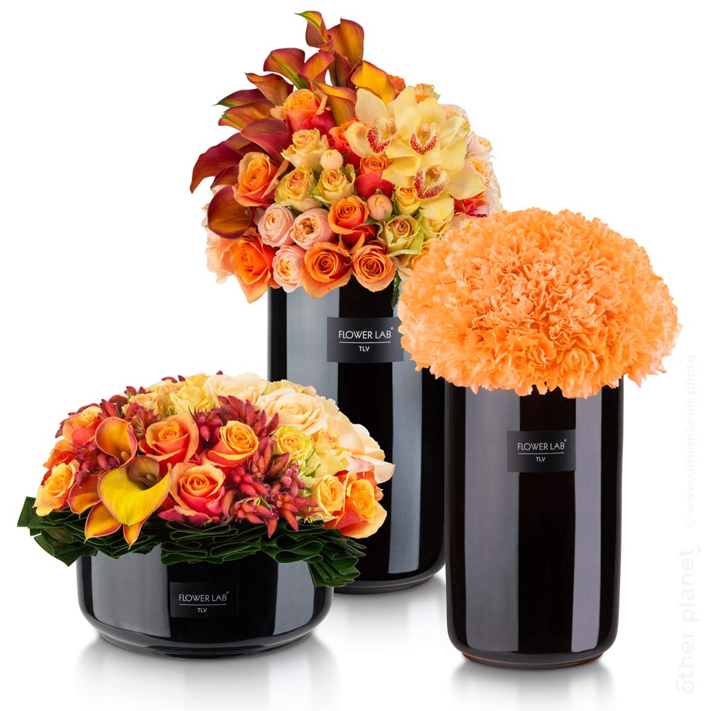 3 beautiful flower arrangements in autumn shades