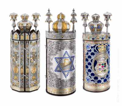 3 cases for Torah on white