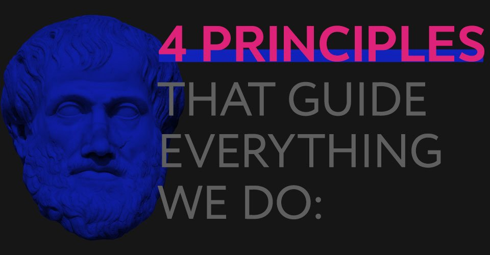 4 principles that guide everything we do