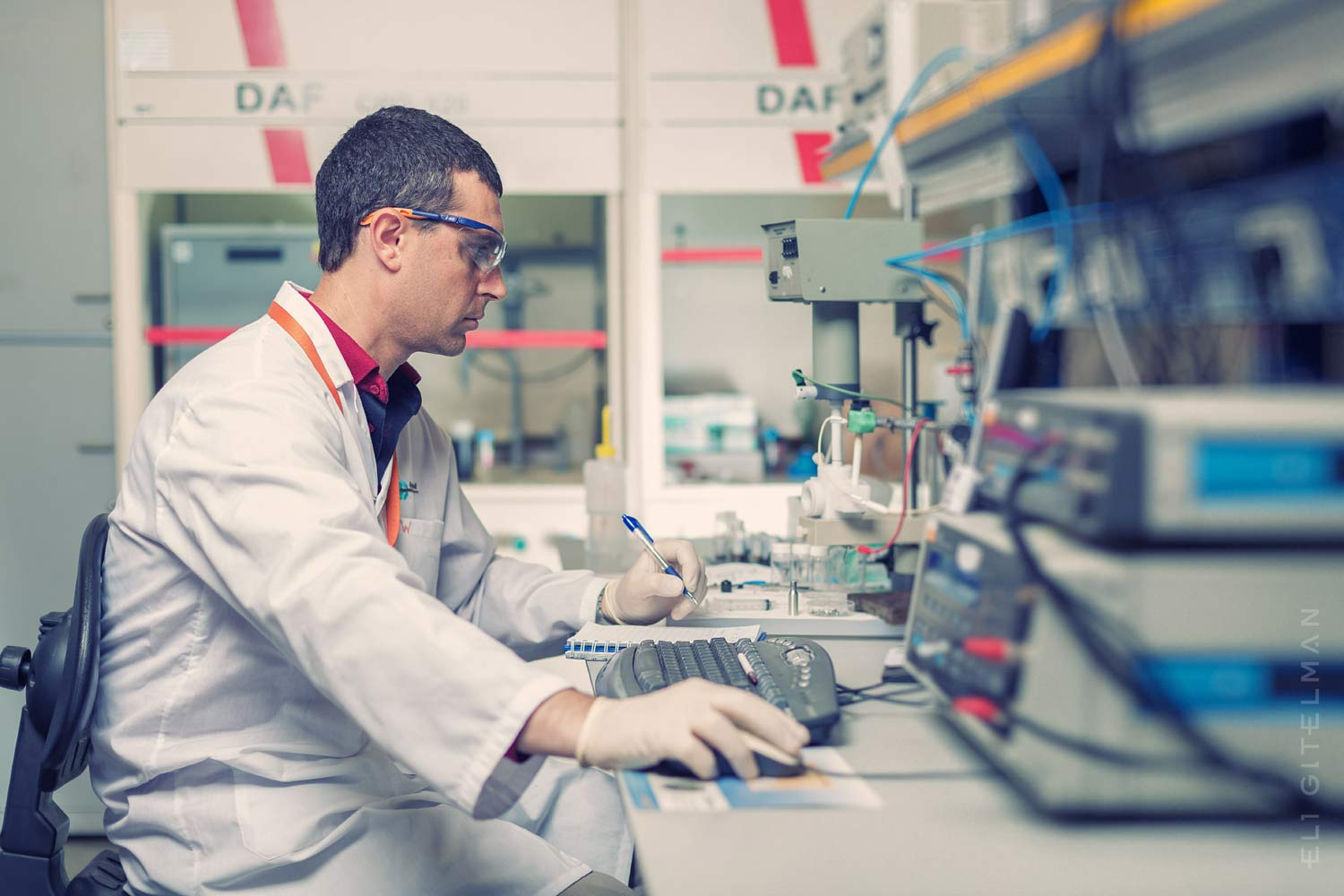 A man working in a lab