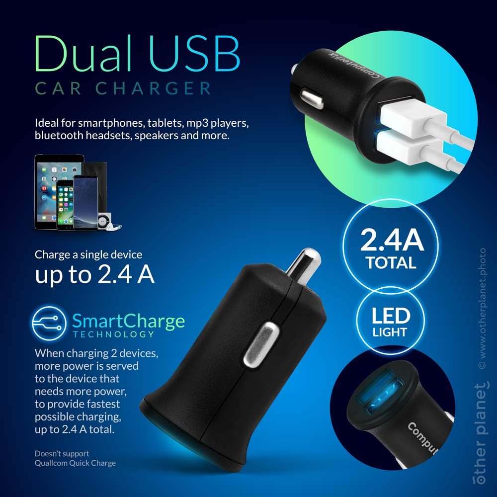 Car charger infographics SmartImage for Amazon