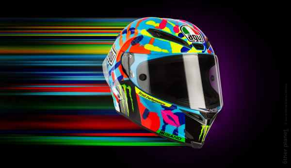Colorful motorcycle helmet