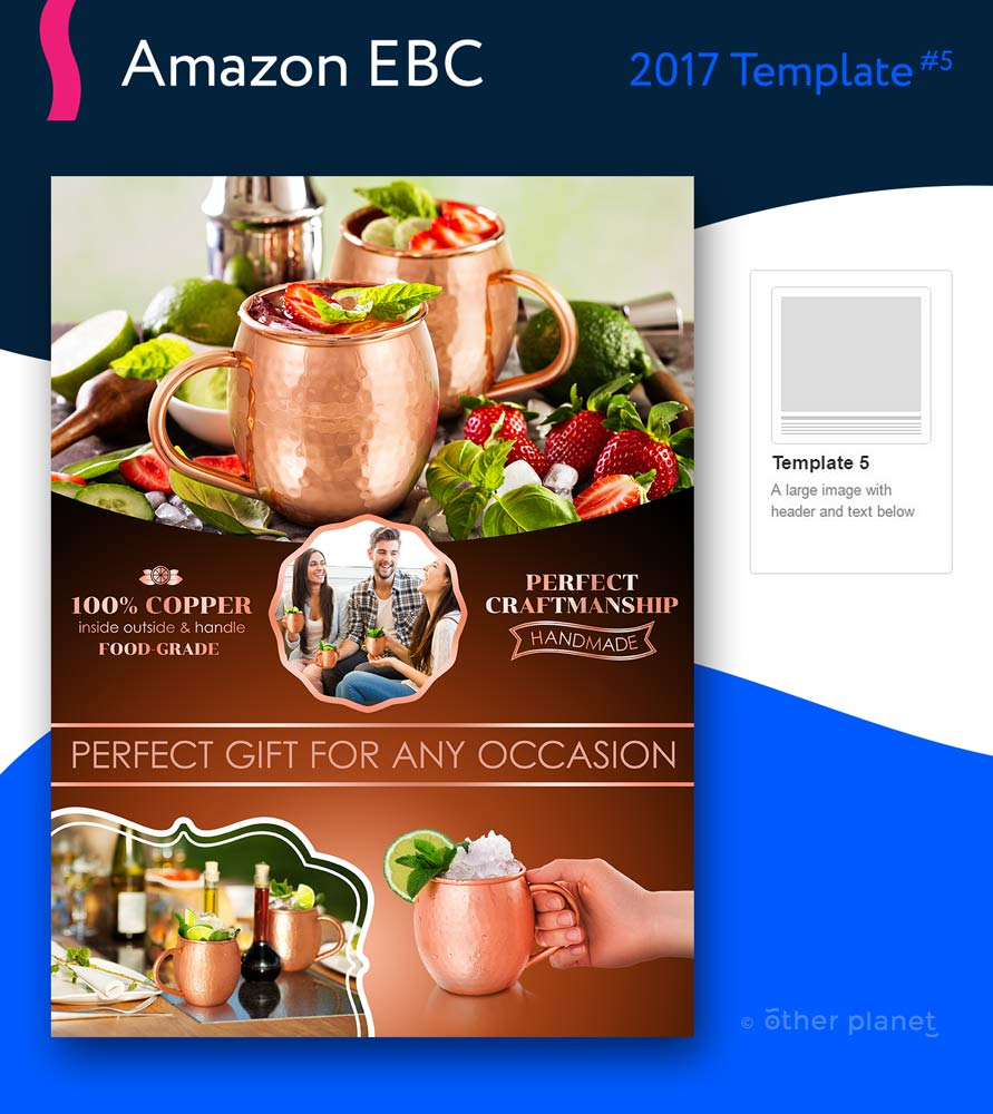 Copper Cups EBC beautiful image with graphic design