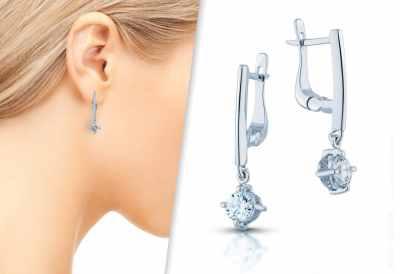Diamond earrings by HSZ