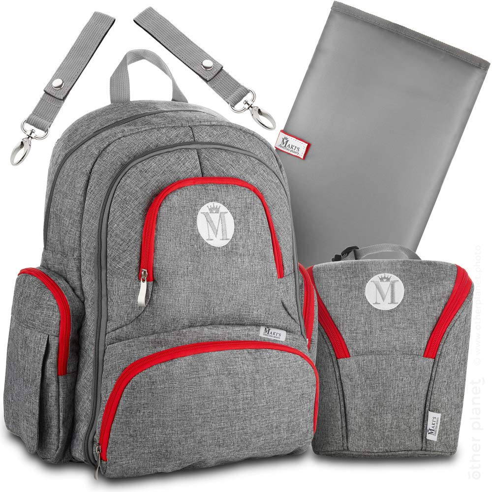 Diaper backpack packshot arrangement for Amazon product main image