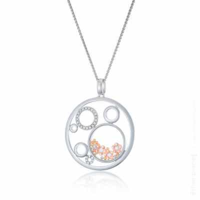 Fashion jewelry with glass and swarovski crystals