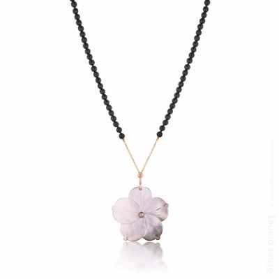 Flower pendant shot on white