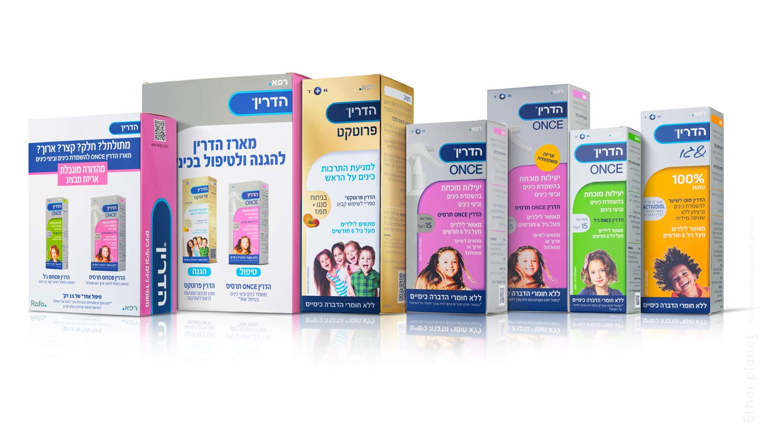 Hedrin Once medical cosmetic products collection photography