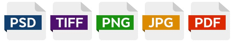 Icons for image file formats