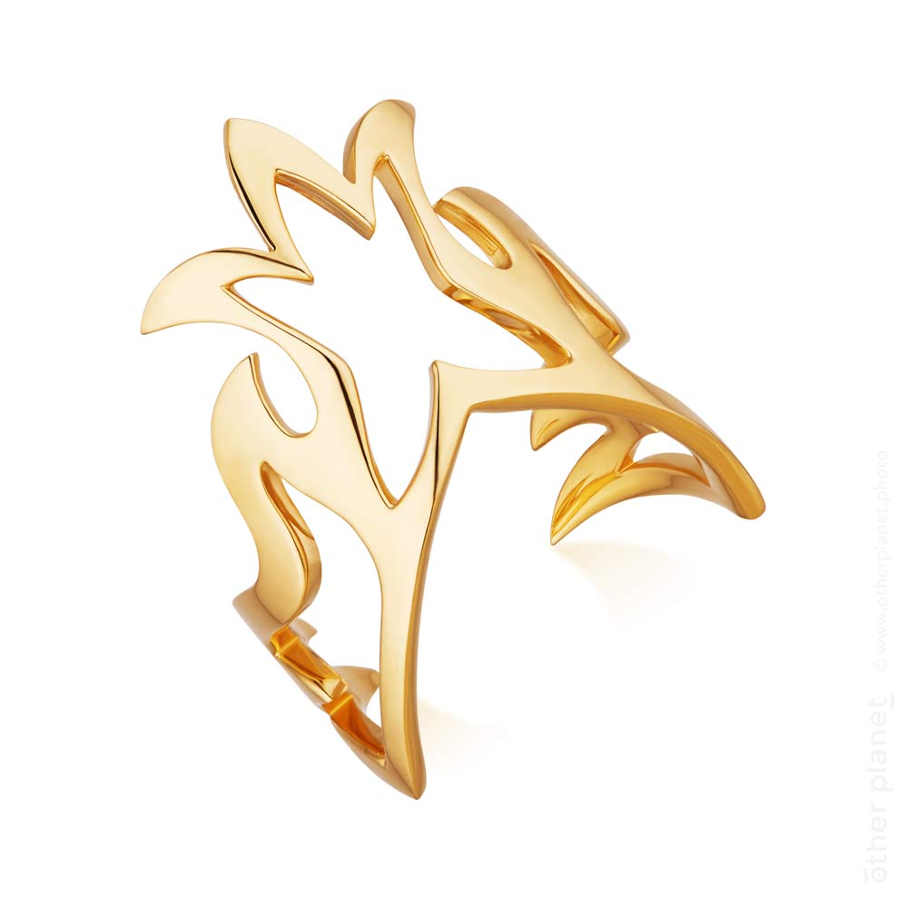 Lachtara Jewelry gold phoenix ring
