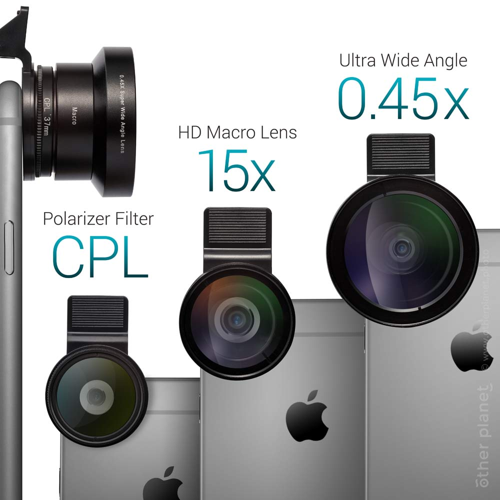 Lens for smartphone camera products specifications illustration