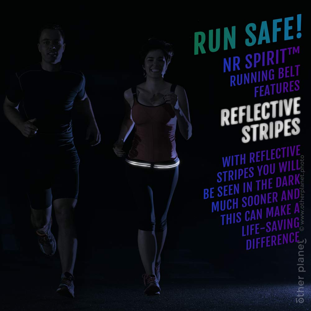 Lifestyle night photo for running belt product