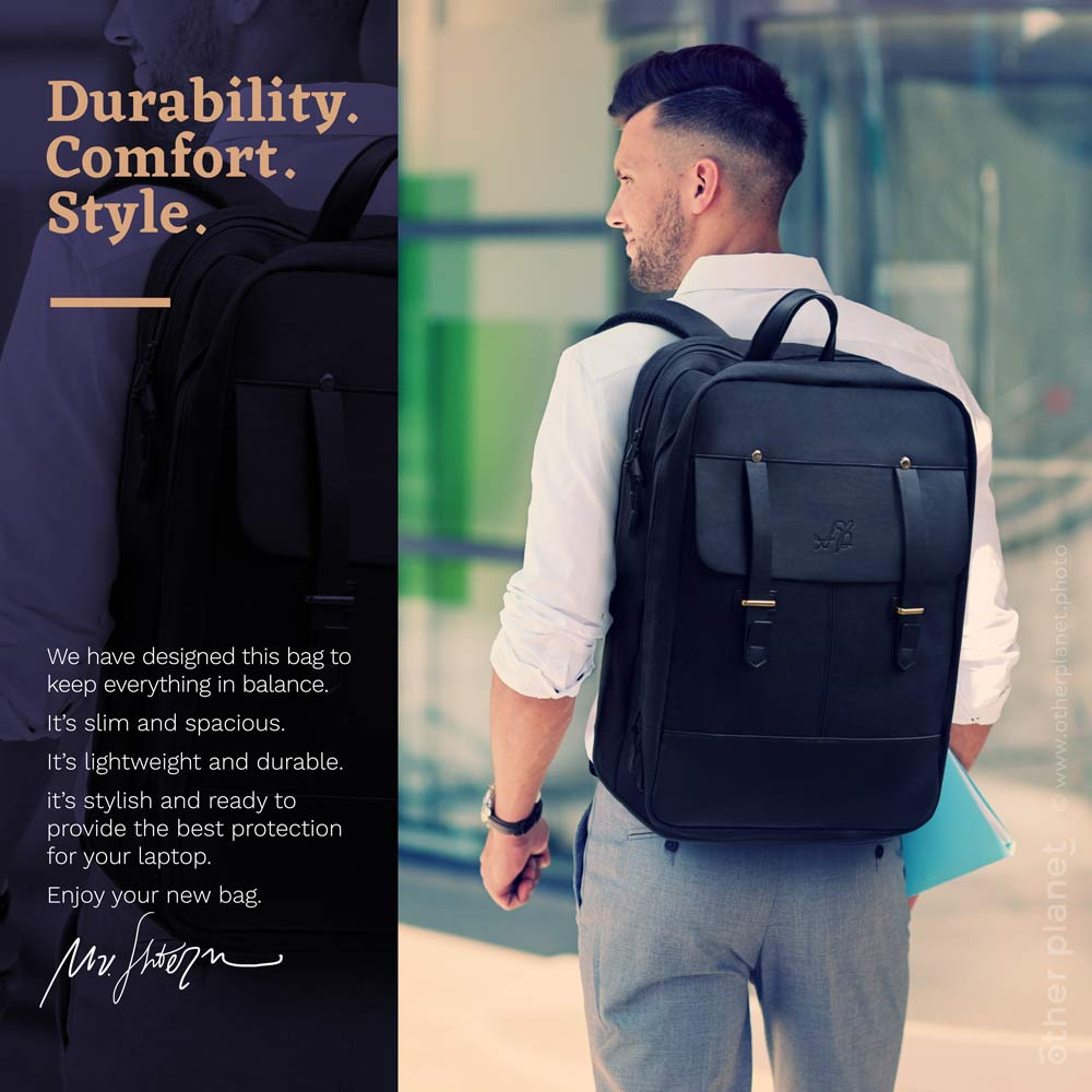 Lifestyle photo for backpack