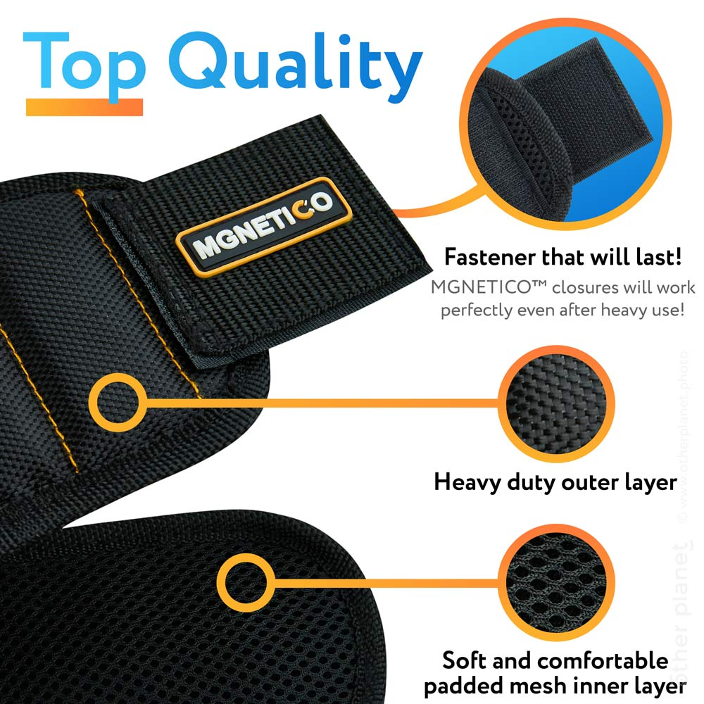 Materials presentation for Amazon product magnetic wristband