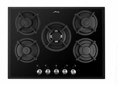 Metz 5 burner black cooktop