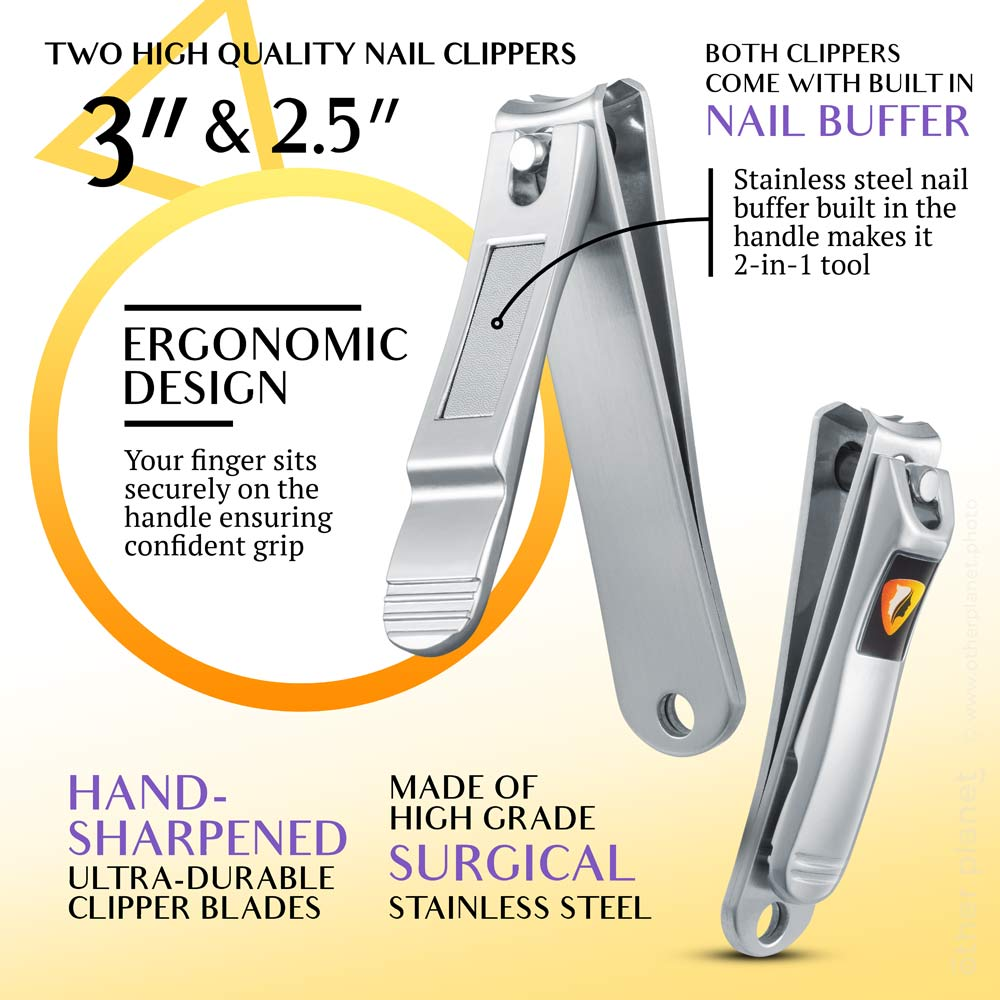 Nail clipper infographics photography and graphic design
