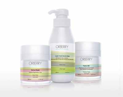 Orberry cosmetics packshots on white