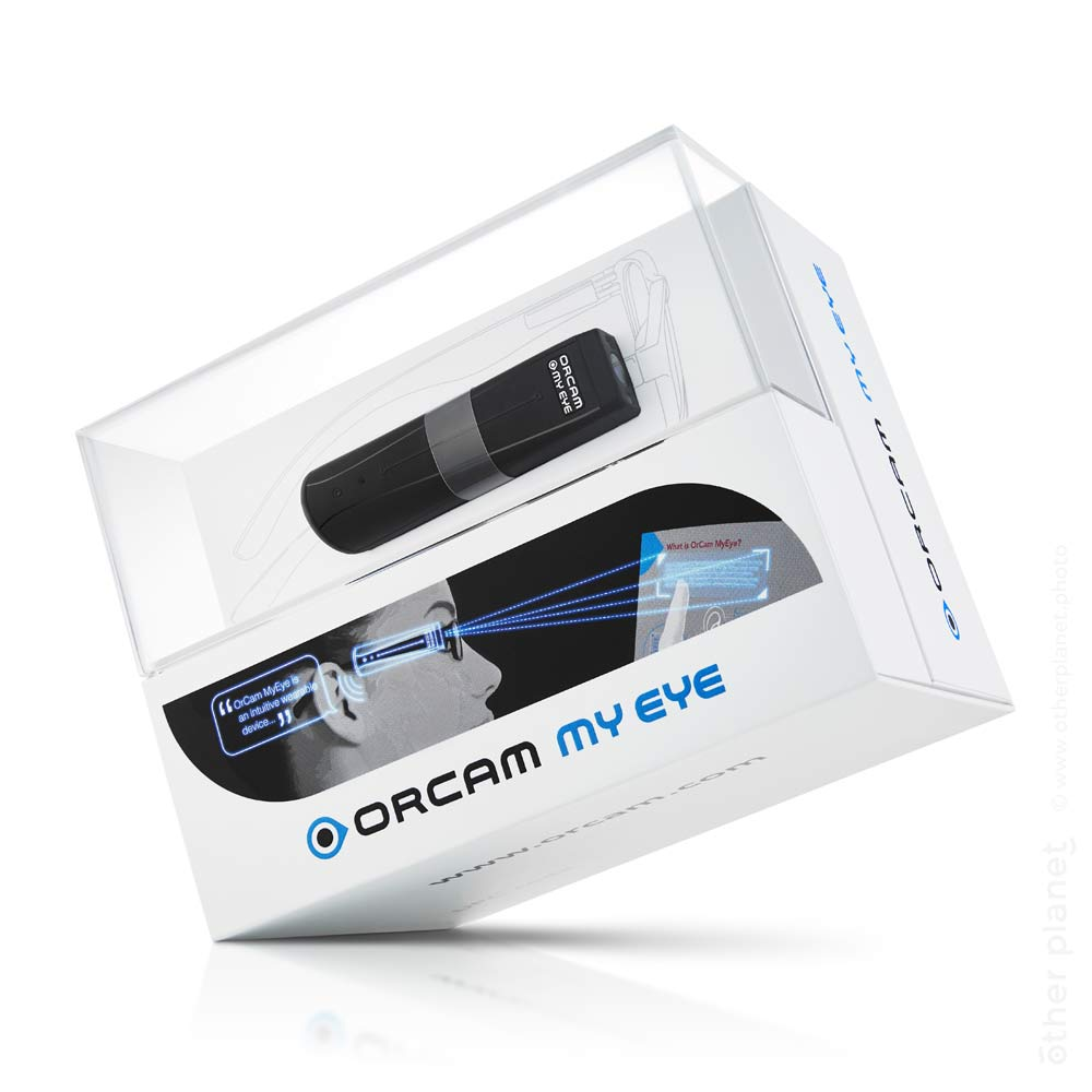 Orcam My Eye device with package