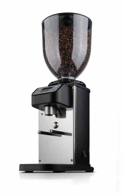 Packshot of coffee beans grinder on white background