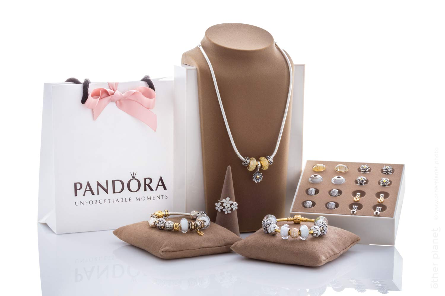 Pandora jewelry arrangement