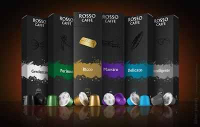 Rosso Caffe capsules variety presentation