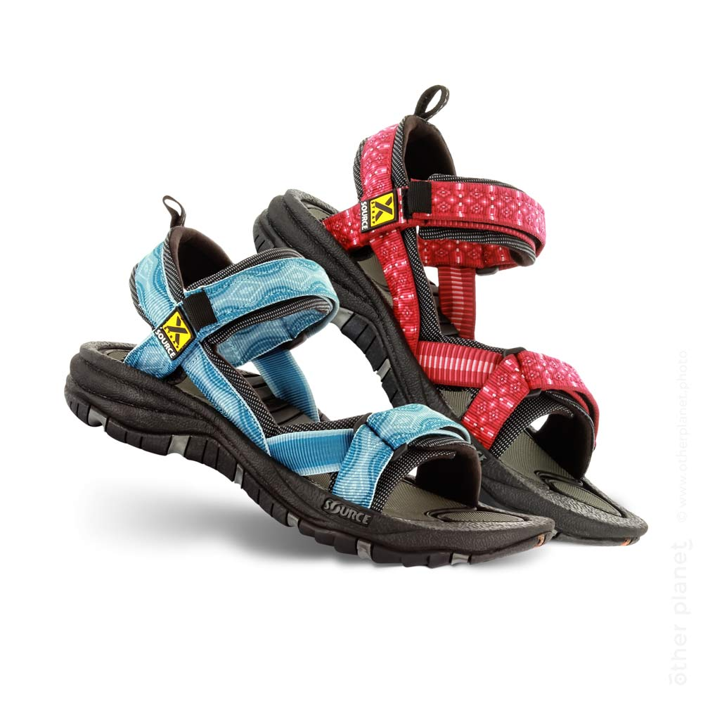 Source hiking sandals packshot on white background