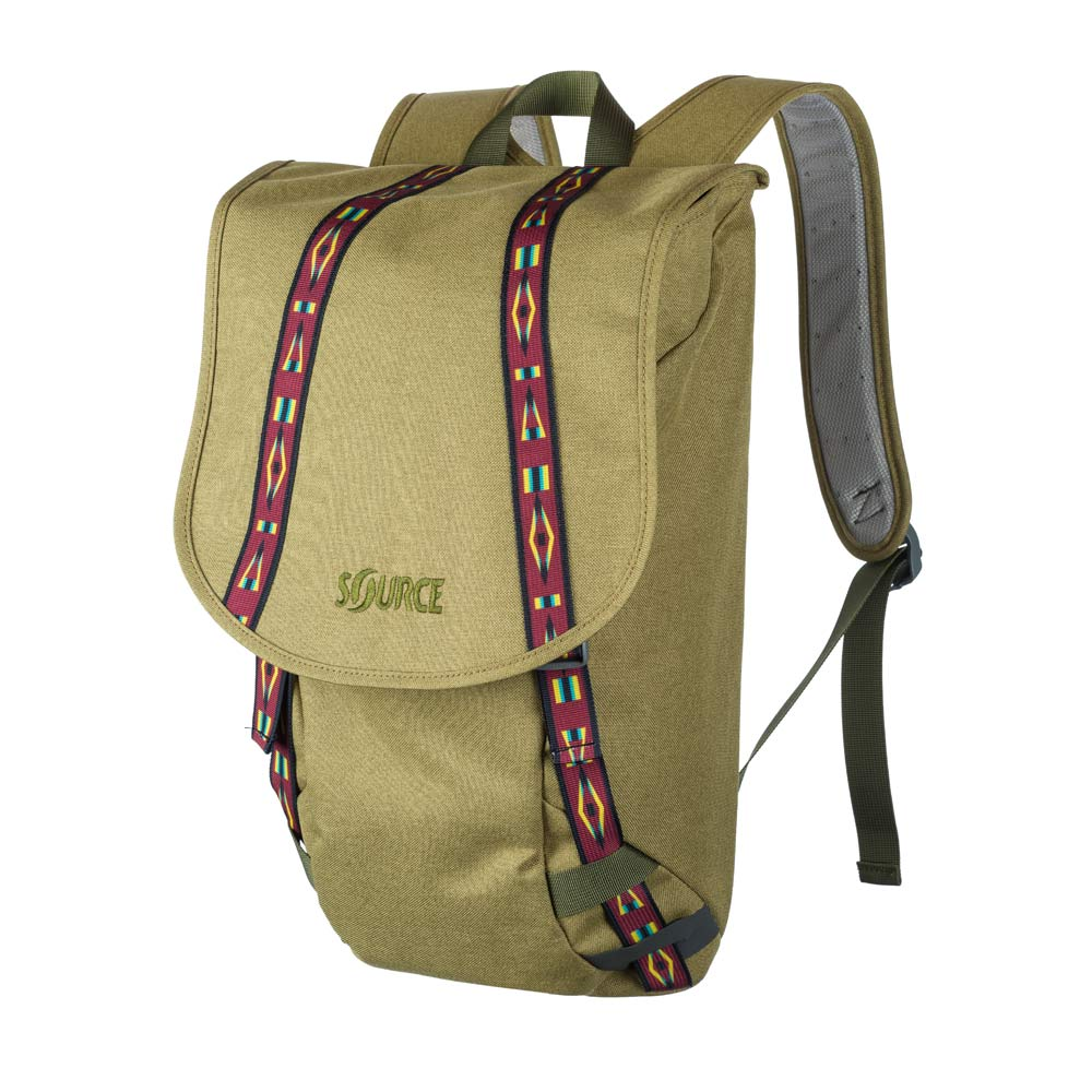 Source khaki urban backpack photo on white
