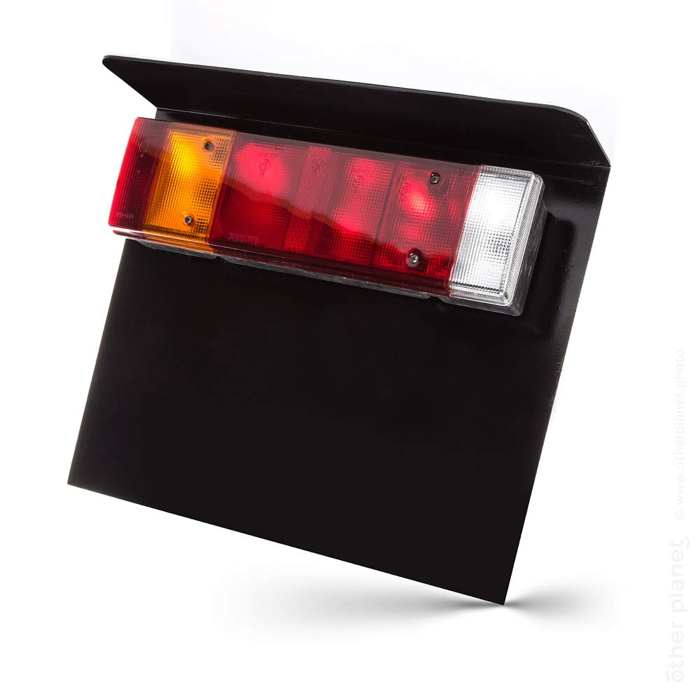 Truck tail lights - product photo on white