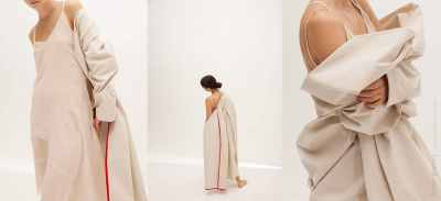 Ttriptych of fashion coat by Sandra Gutsati