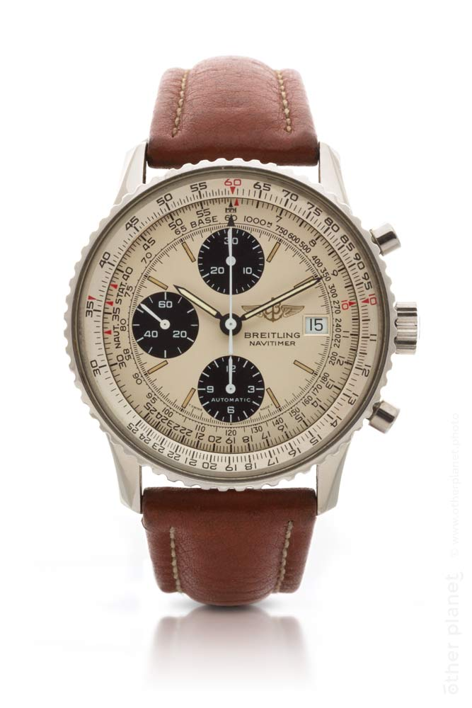 Vintage Breitling watch with leather strap packshot