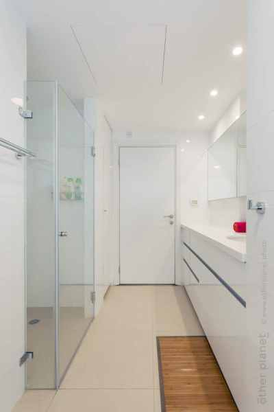 White and clean bathroom interior