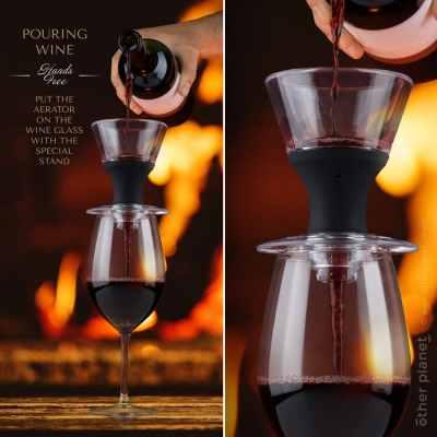 Wine aerator advertising image