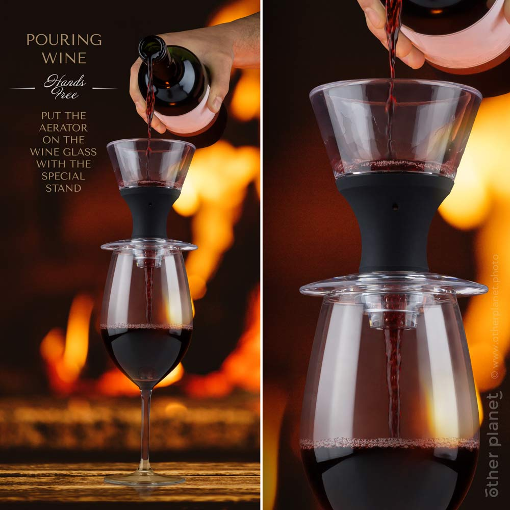 Wine aerator advertising image