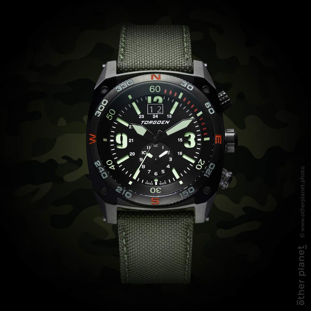 Tactical watch photography packshot Torgoen
