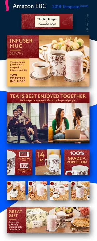 Amazon EBC image for infusion mugs Enhanced Brand Content Image