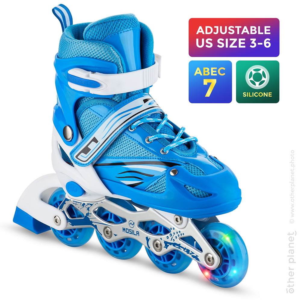 Amazon main product image of inline skate on white background