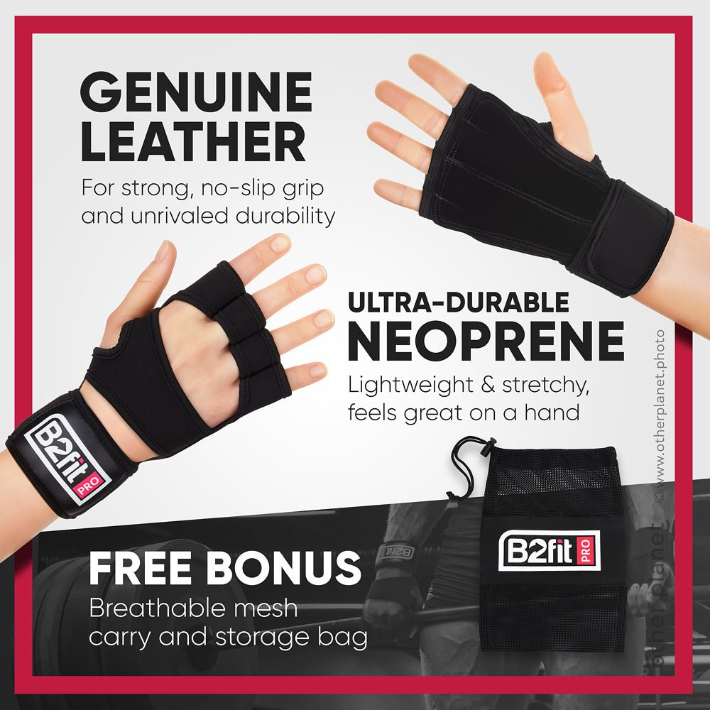 Fitness gloves photography with infographics
