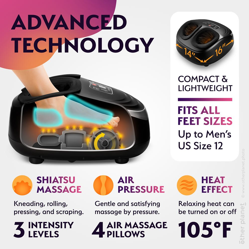 Foot massager operation CGI and infographics for Amazon product