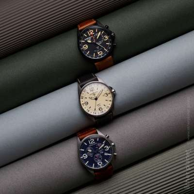 Luxury army watches arrangement with various backgrounds