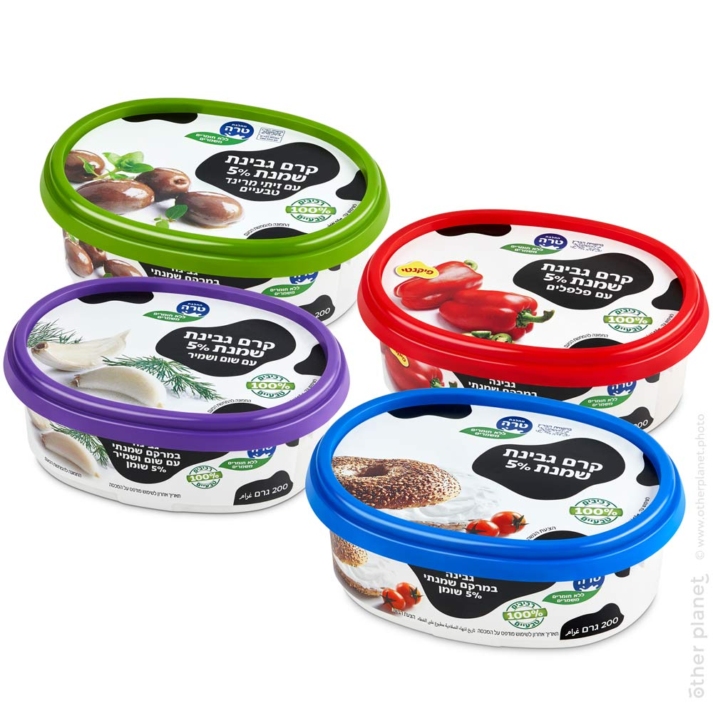 Tara cream cheese arrangement packshot on white background