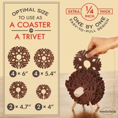 Coasters set image for Amazon product listing
