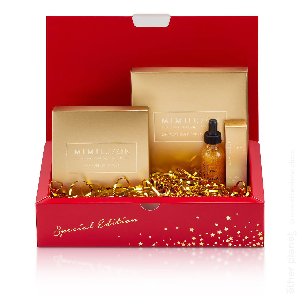 Mimi Luzon Cosmetics photography packshot Christmas Gift Kit