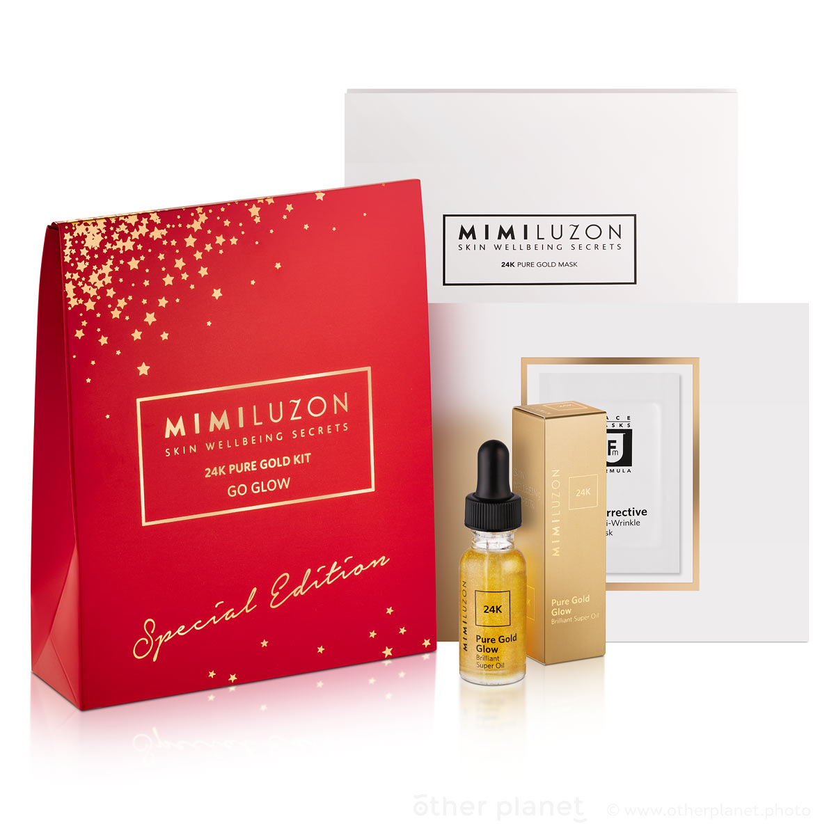 Mimi Luzon Cosmetics photography packshot Christmas Gift Small Kit
