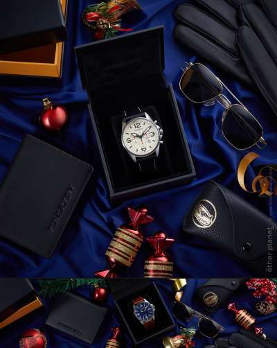 Swiss watch photography arrangement for Christmas Sale Gift Set