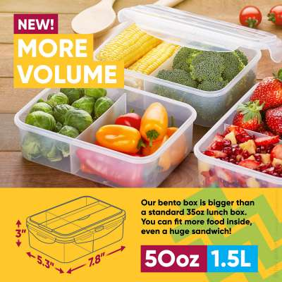 Food photography for bento containers sold on Amazon