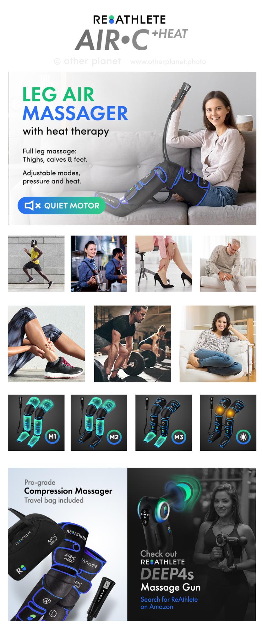 amazon fba photos for EBC of Leg Air Massager
