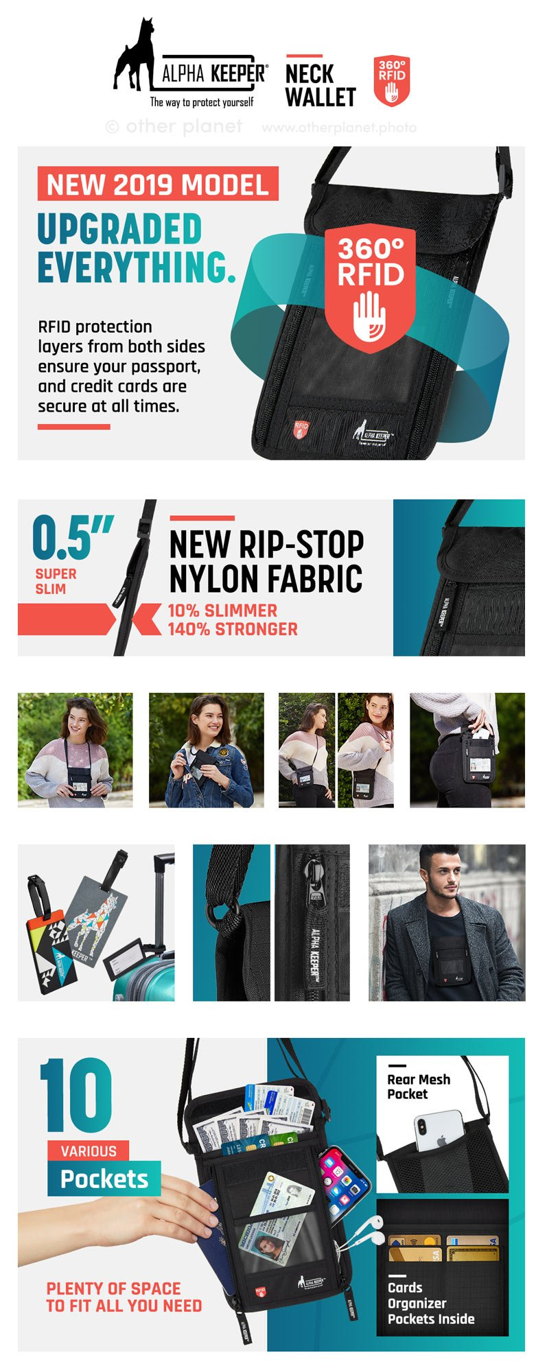 amazon fba product photography for neck wallet EBC
