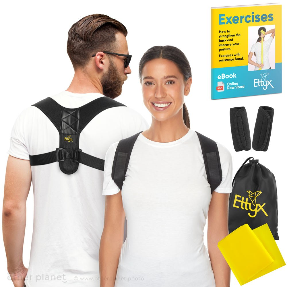 amazon listing photography photoshoot with models for posture corrector