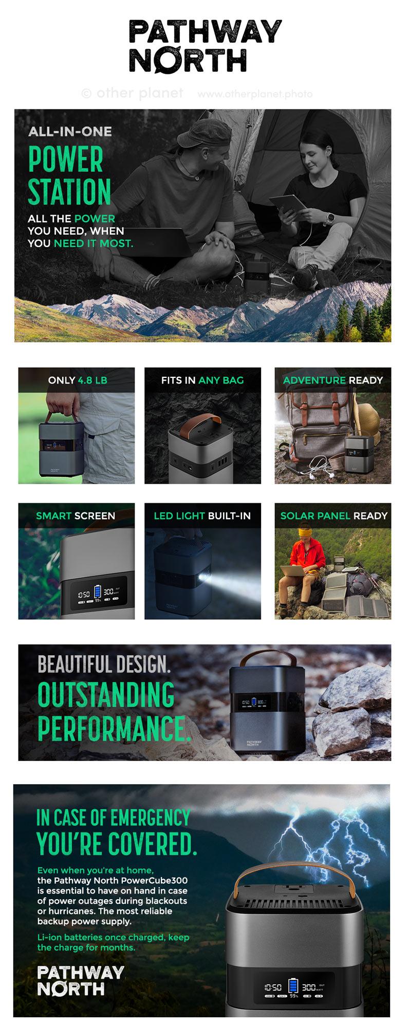 amazon product lifestyle photography EBC for emergency power station