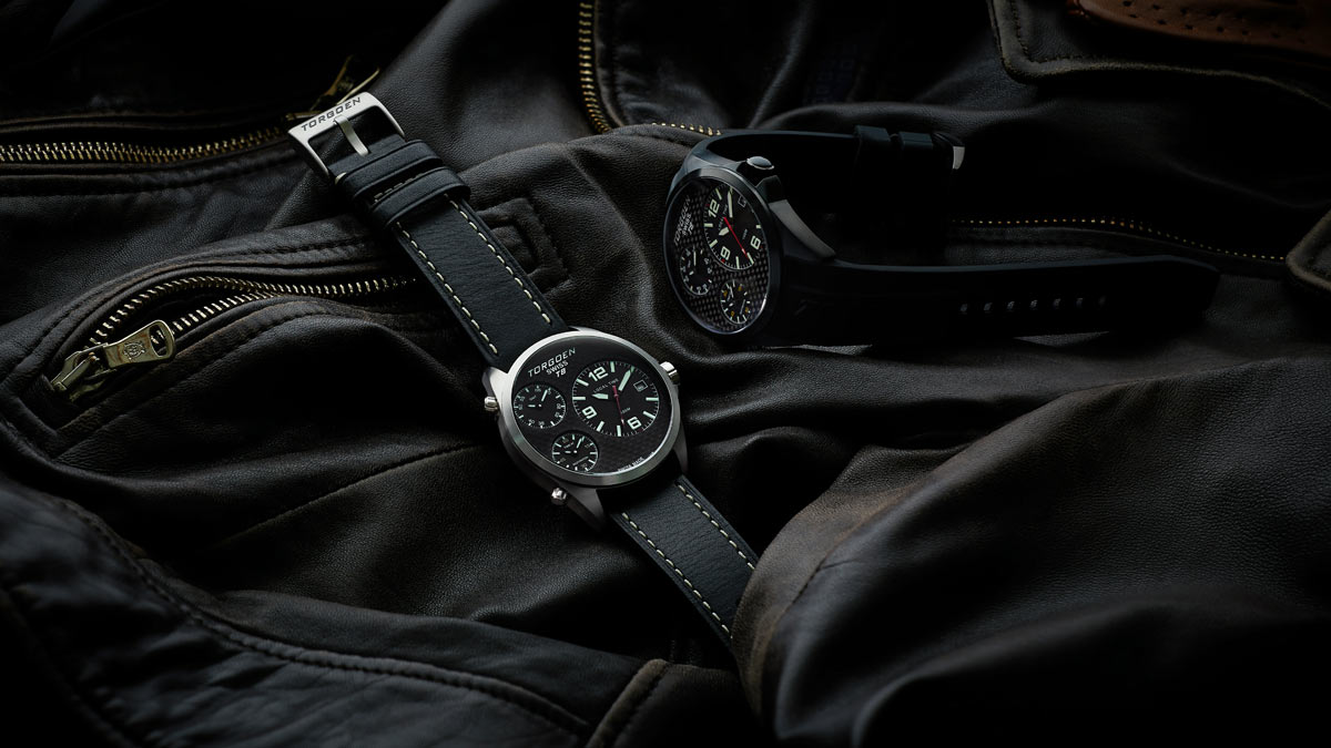 ecommerce product photography arrangement for swiss watches sport pilot